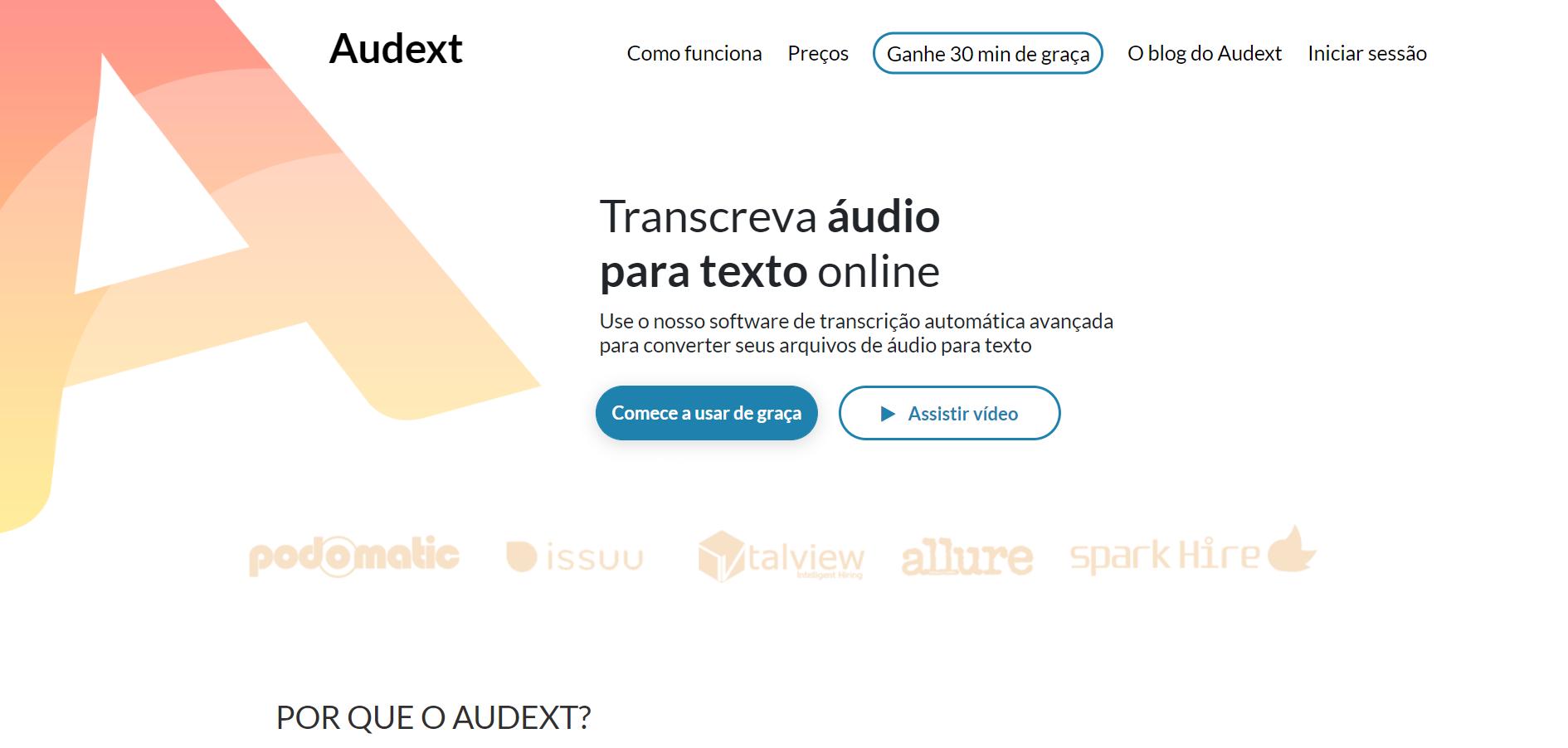 programa que transforma audio em texto
