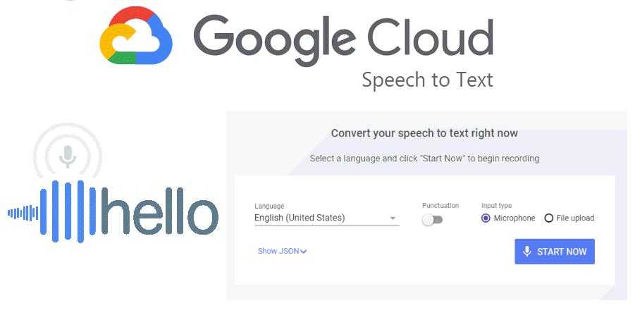 áudio para texto usando o Google