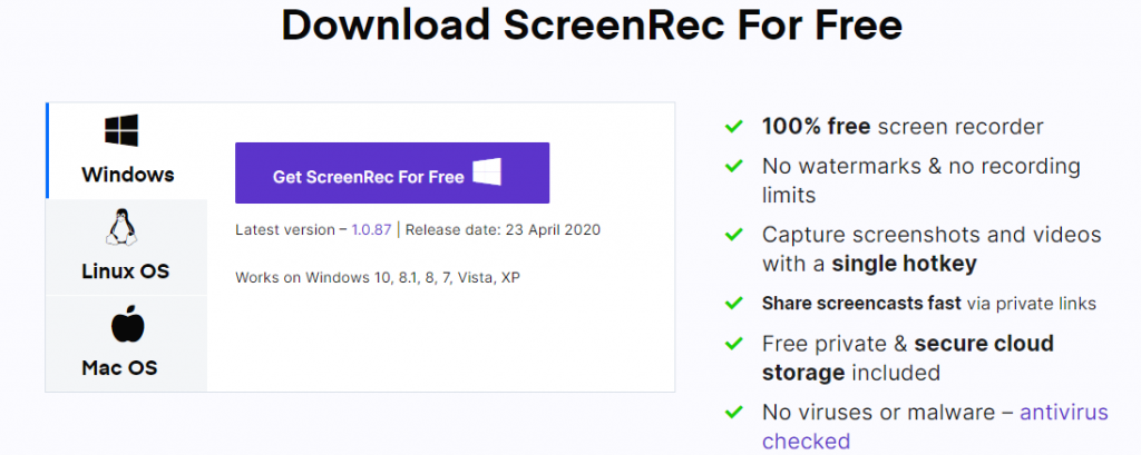 Download ScreenRec