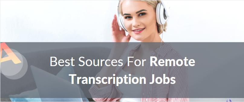 remote transcription jobs