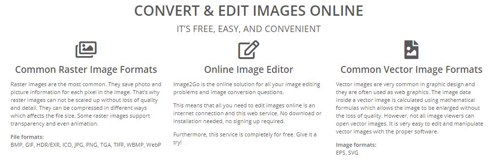 Image2go image creator