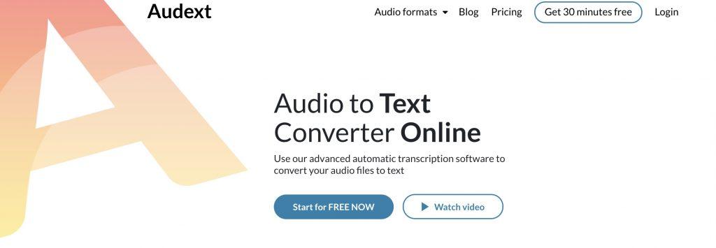 Audext audio to text